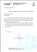 Carta de Agradecimento - Universidade de São Paulo